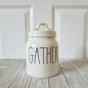 Rae Dunn Mini GATHER Canister Jar